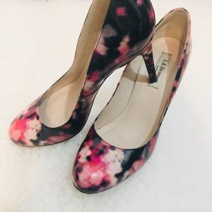 LK Bennett Multicored black pink Heels pumps